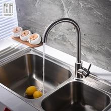 Hideep горячей и холодной воды классический смеситель для кухни 304 нержавеющая сталь 360 градусов вращения