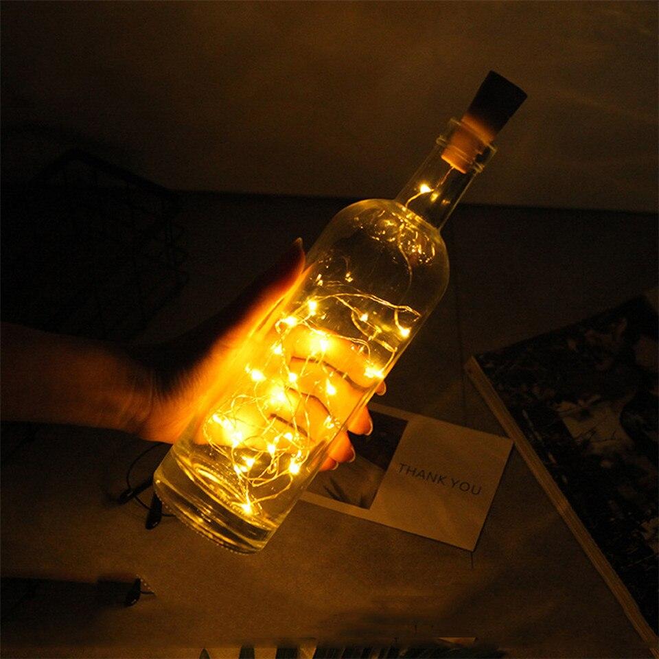 b5e252f13 20 Alimentado Por Bateria LEVOU Luzes Jar Garrafa de Vinho Cortiça ...