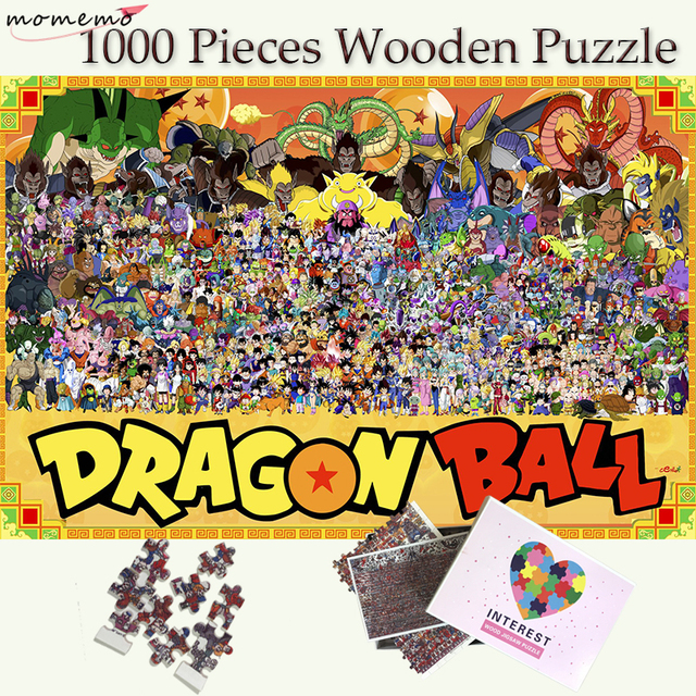 MOMEMO Customized Wooden 1000 Pieces Puzzle Dragon Ball Customized Personality Jigsaw Puzzle Adults Teenagers Kids Puzzle Toys