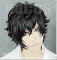 New High Quality Game PERSONA 5 Hero Cosplay Wig Black Short Synthetic Hair