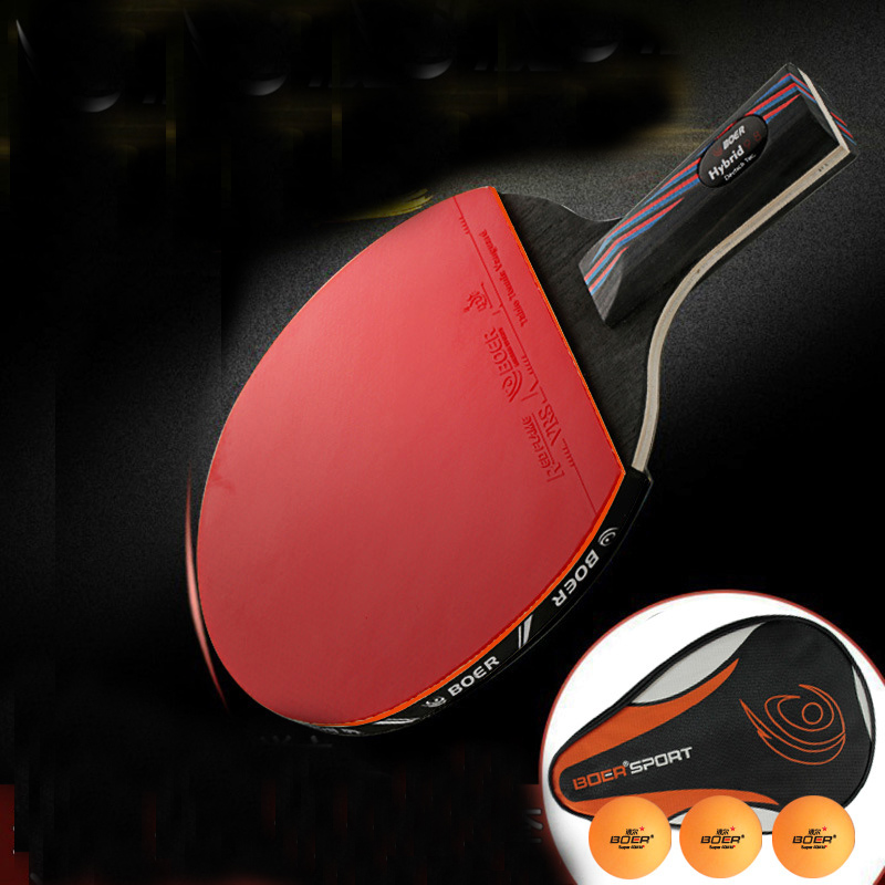 Professional 9.8 Carbon Nanoscale WRB System Table Tennis Bat Racket Long Short Handle Ping Pong Paddle Racket With Carry Bag