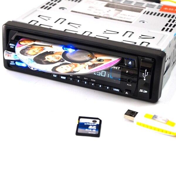 Bluetooth Novo 12 v FM Carro E MP3 CD DVD Stereo Radio Receiver Aux Com SD E Porta USB Móvel MM Slot Para Cartão de Leitor De Áudio Auto - 2