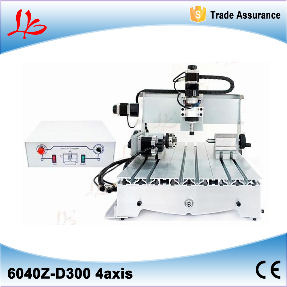 No tax, 4axis cnc router machine 6040Z for wood engraving and soft metal milling drilling machine no tax to eu 6040 z d300 4axis 110v 220v cnc milling machine cnc router usb adpter