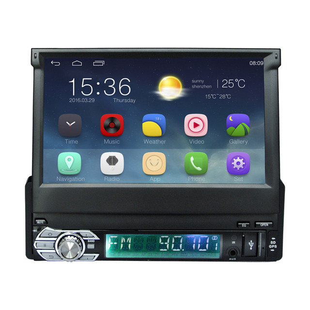 """1Din Android 6.0 Car Radio Stereo 7"""" Capacitive Touch Screen 1024*600 Universal For GPS Navigation BT Radio Stereo Audio Player"""