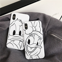 100PCS Donald Duck Daisy phone Cases For iphone X 6 6s 7 7Plus soft TPU silicone case back cover for iphone 8 8plus XR XS MAX