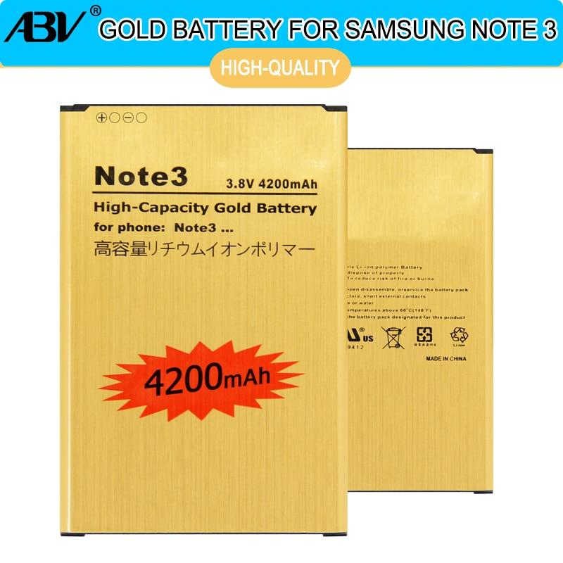 2018 New Original VOL B800BE B800BC Batterie D'or pour Samsung GALAXY Note 3 Batterie Note3 N9006 N9002 N9005 N9008 N909 batterie