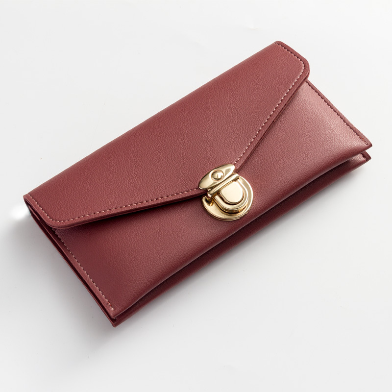 2018 Hot Long Women Wallets Leather Female Purse Metal Hasp Coin Pocket Big Capacity Phone Wallet Ladies Card Holder Wallet W174 takem 2018 pu leather women hasp long wallet ladies purse female wallets purse card holder coin cash bag portefeuille femme