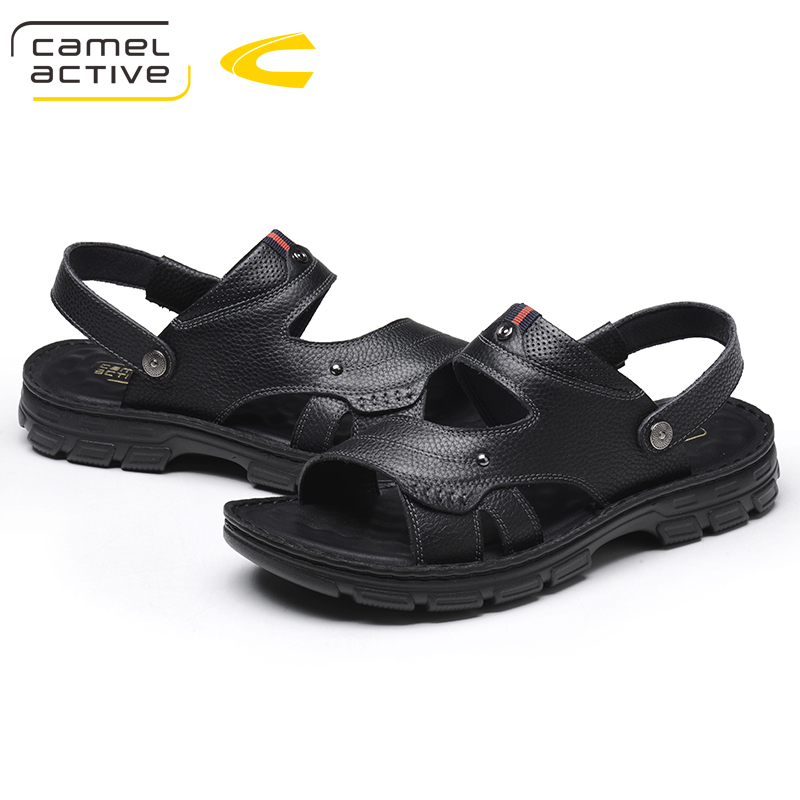 Camel Active Summer Men's Shoes Trend Casual Sandals High Elastic Lithe Antiskid Cushioning Elastic band Beach Sandals fongimic summer women flat shoes comfortable casual all match beach sandals high quality girl beach flowers elastic band sandals