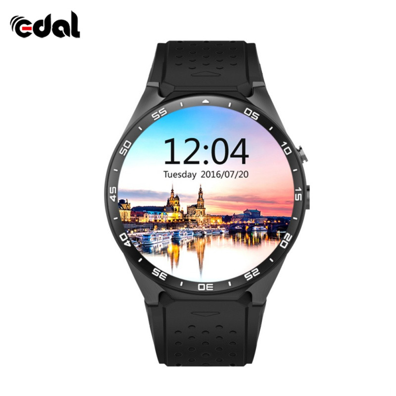 EDAL Fashion KW88 Smart Watch Dail Fitness Android 5.1 OS CPU MTK6580 1.39 inch 2.0MP Camera 3G WIFI GPS For Apple Android smart baby watch q60s детские часы с gps голубые