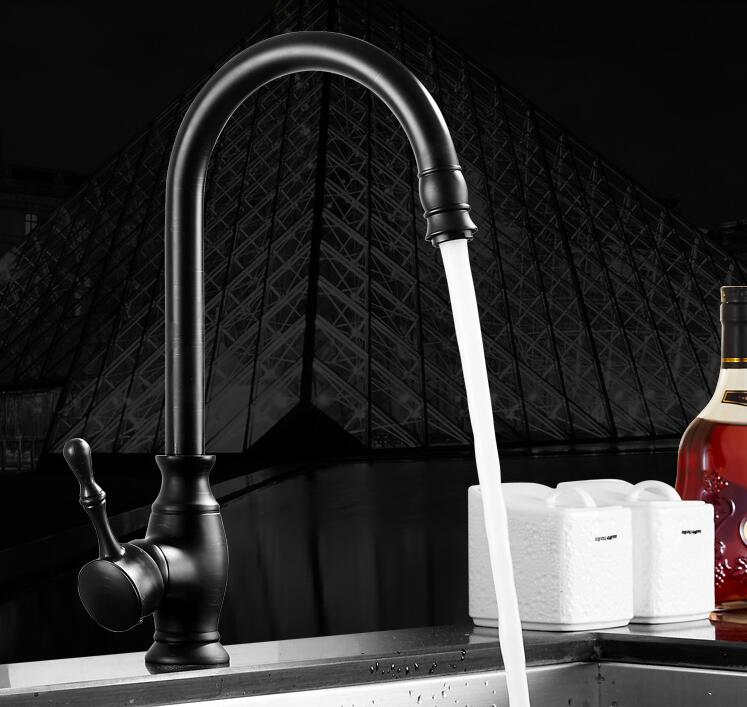 fashion Europe style High quality brass ORB finished 360 degree rotating no lead safe kitchen sink