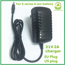 21v2A Lithium Battery Charger for 5 Series Battery Charger for Lithium Battery with LED Light Shows Charge State Good Quality