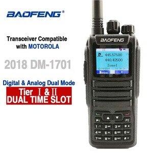 Image 1 - Baofeng DM 1701 Digital Analog Walkie Talkie Dual Band Dual Time Slot DMR Radio Station Two Way Radio Amateurs Transceiver 10 KM