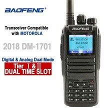 Baofeng DM 1701 דיגיטלי אנלוגי ווקי טוקי Dual Band Dual זמן חריץ DMR תחנת רדיו שני בדרך רדיו משדר 10 km