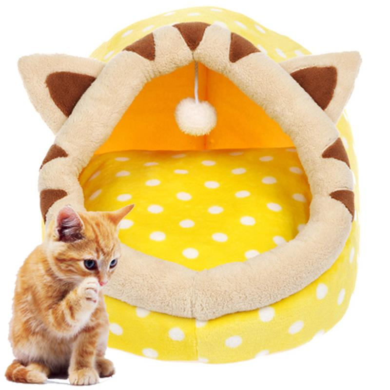 Cotton Plush Cat Cave House Pet Bed Pet Dog House Lovely Soft Suitable Pet Dog Cushion Cat Bed House High Quality Kitty House