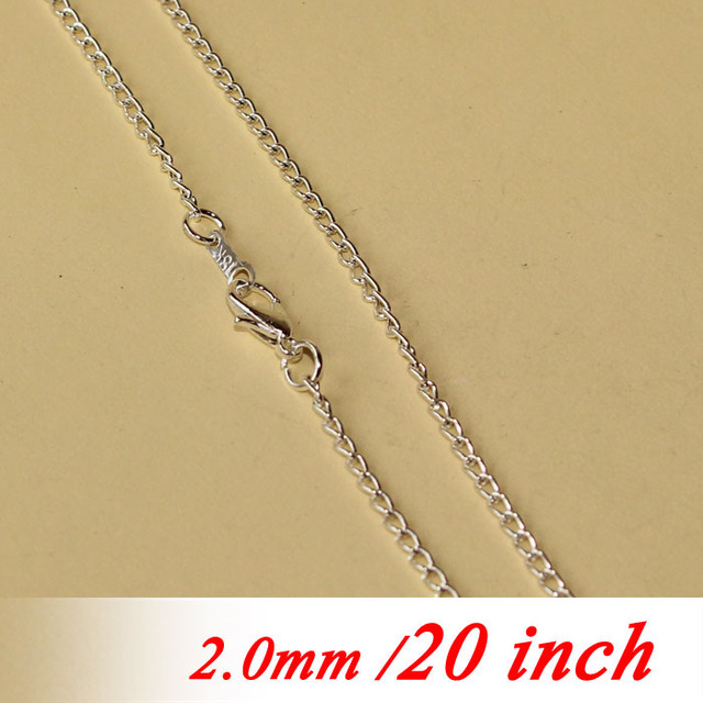 For fashion women men jewelry links pendants 20 2mm metal curb for fashion women men jewelry links pendants 20 2mm metal curb chains with lobster clasps mozeypictures Choice Image