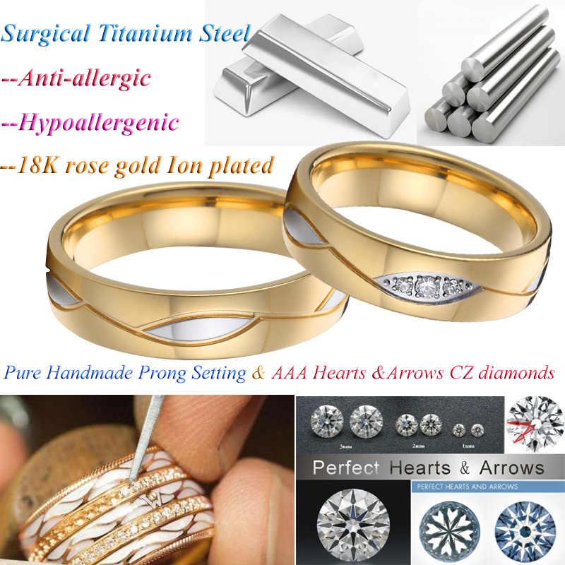 6392487ebfe14 Original Designer Alliances Mens Wedding Band Couple Rings Titanium  Stainless Steel jewelry Engagement Rings for Women