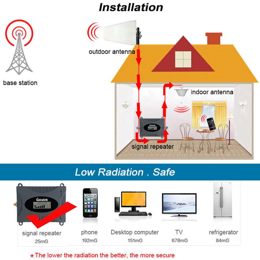 Lintratek MINI 4G 1800MHz amplificateur de Signal cellulaire B3 LTE GSM DCS 1800 amplificateur répéteur antenne LPD + antenne de plafond + Kit 10m #8-1