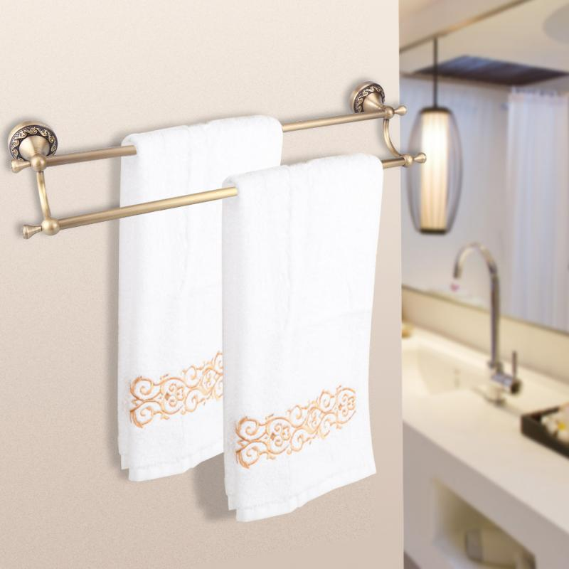 Vintage Bath Towel Rack Washcloth Holder Double Bar Type Bathroom ...