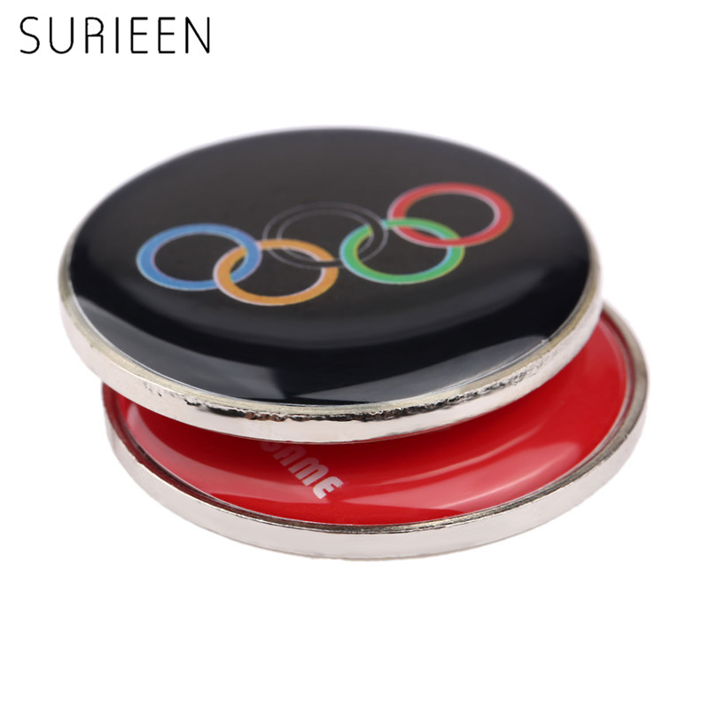 2Ps Football Referees Selected Edges Toss Coin Badminton Point Edge Detector Soccer Table Tennis Referee Choice Side Double Side