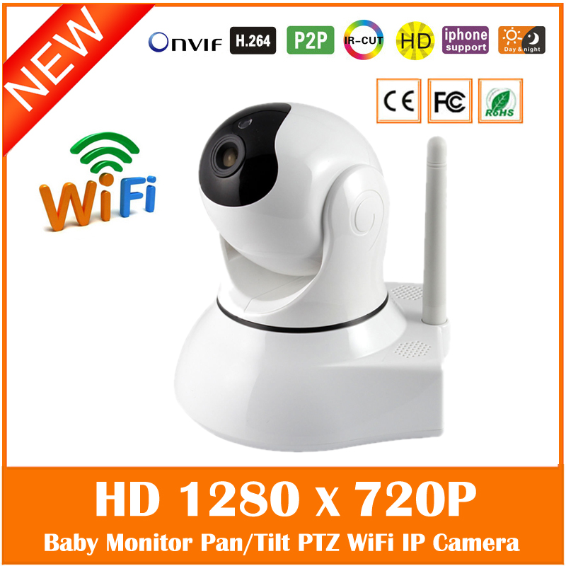 Hd 720p Night Vision Wifi Wireless Ip Camera P2p Ptz Motion Detect Onvif Baby Monitor Home Surveillance Freeshipping Hot Sale