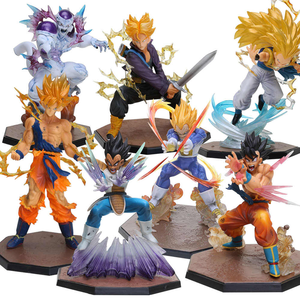Gotenks Son Goku Vegeta Trunks Freezer PVC Action Figures Dragon Ball Z Collectible Model Dolls Dragonball Z DBZ Toys brinqudoes