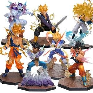 Gotenks Son Goku Vegeta Trunks Freezer PVC Action Figures Dragon Ball Z Collectible Model Dolls Dragonball Z DBZ Toys brinqudoes(China)