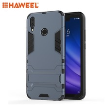 HAWEEL Phone Case for Huawei Y9 (2019) / Enjoy 9 Plus with Holder Shockproof PC + TPU Protect Shell Guard