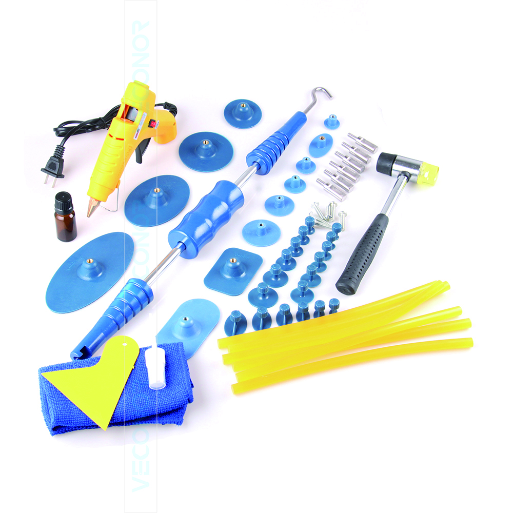 Цена за 53 шт. набор панели dent repair tool авто дент съемник PDR инструмент с 30 шт. клей puller tabs автосервис инструменты