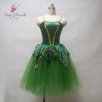 טוטו בלט מחוך קטיפה ירוק נשים תחפושת ריקוד ילדה בלט ביצועי שלב תחפושת בלט תלבושות טוטו רומנטי ליידי