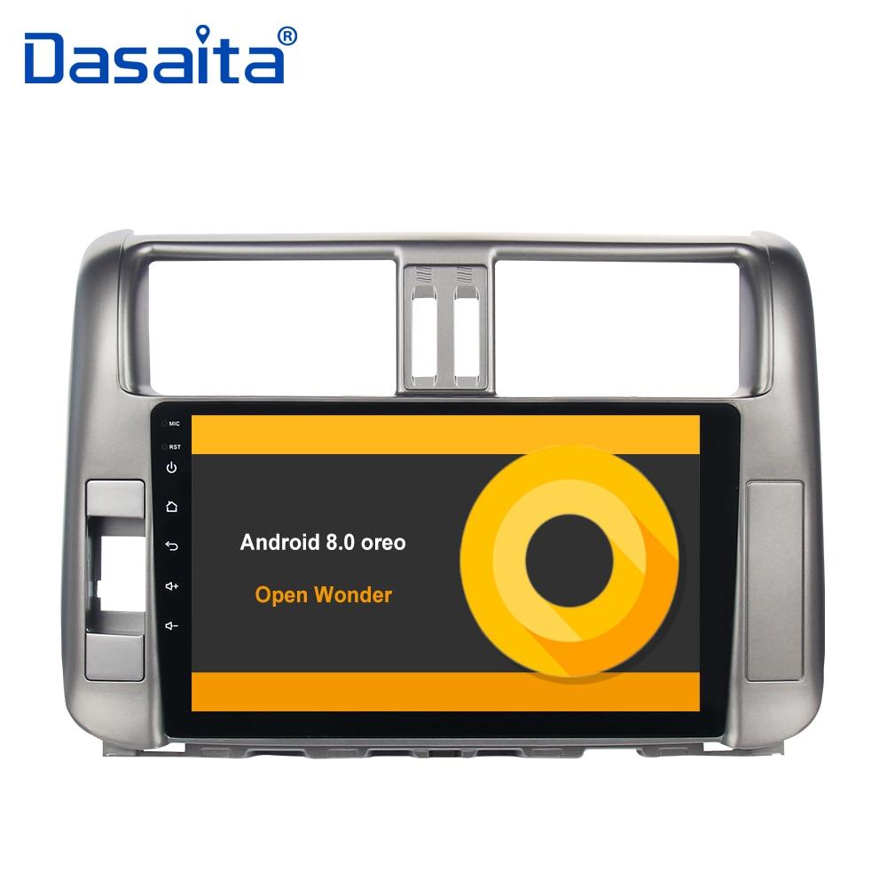 Android 8.0 autoradio de voiture pour toyota prado 150 2010 2011 2012 2013 avec 9 HD Numérique Tactile Capacitif Écran bluetooth 32g ROM