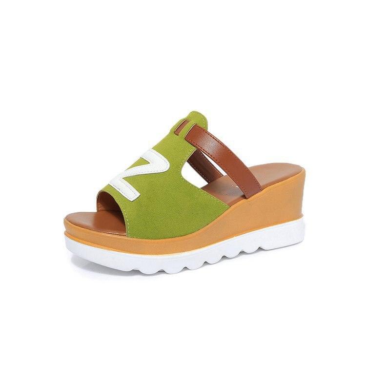 Fashion donna estive Scarpe Big per Nero Doratasia Zeppe antiscivolo piatta 2019 Size Soft Verde Party Grigio New 35 Pantofole Piattaforma Casual 40 EwCzq6