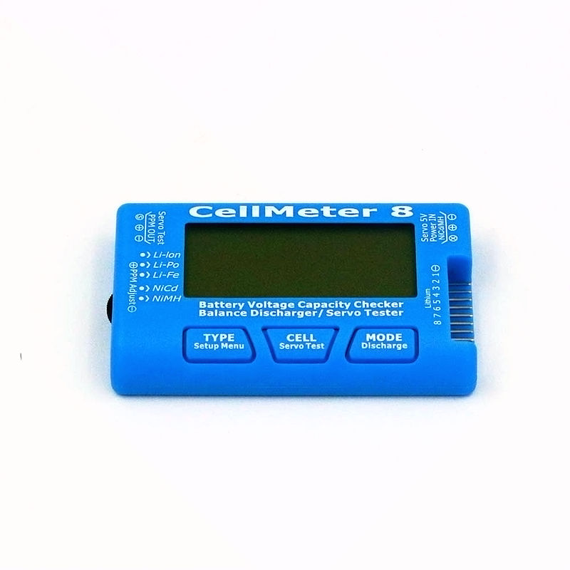 RC hobby Model AOK CellMeter 8 multifunctional ditigal servo tester 1-8S Battery Capacity Voltage Checker Meter For LiPo Battery knl hobby voyager model pe35418 m1a1 tusk1 ubilan