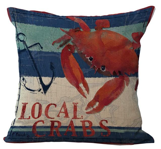 Ocean Park Beach Theme Decorative Throw Pillow Cover