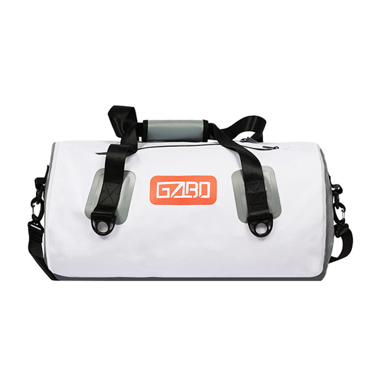 GZLBO 35L circle white travel bag OEM PVC Ultralight Fancy Folding Waterproof Travel Duf ...