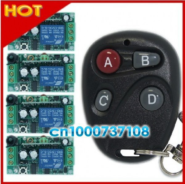 DC12V 1CH RF home automation latch receiver with jumper automation home controller wireless single way remote control switch dc 12v led display digital delay timer control switch module plc automation new