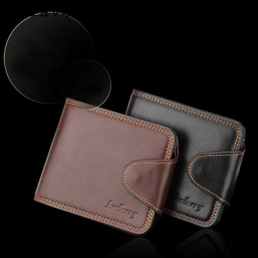 MOLAVE Cartera de moda para hombre ID tarjetero billetera con cremallera monedero bolso de mano de cuero pequeño ultrafino mar14