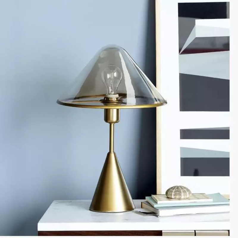 2019 новые творческие прозрачный стеклянный плафон светодиодный настольная лампа кровать лампа прикроватная Art Декор для дома лампа фойе укр... - 2