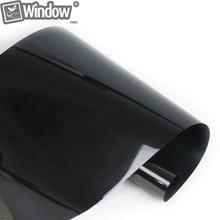 50×300 cm Oscuro Negro Car Window Tint Film Vidrio VLT 5% 2PLY Coche Automático Casa Comercial Decorativo Privacidad Película Polarizado Negro