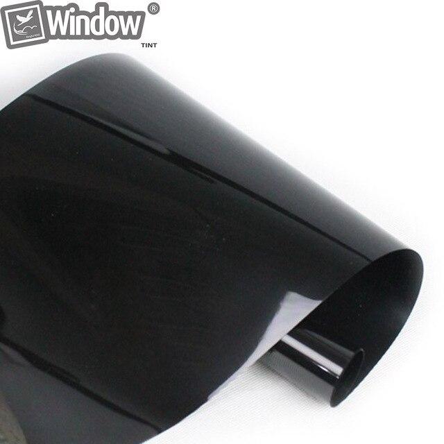 50x 300cm Dark Black Car Window Tint Film Glass VLT 5% 2PLY Car Auto House Commercial Decorative Film Privacy Black Window Tint