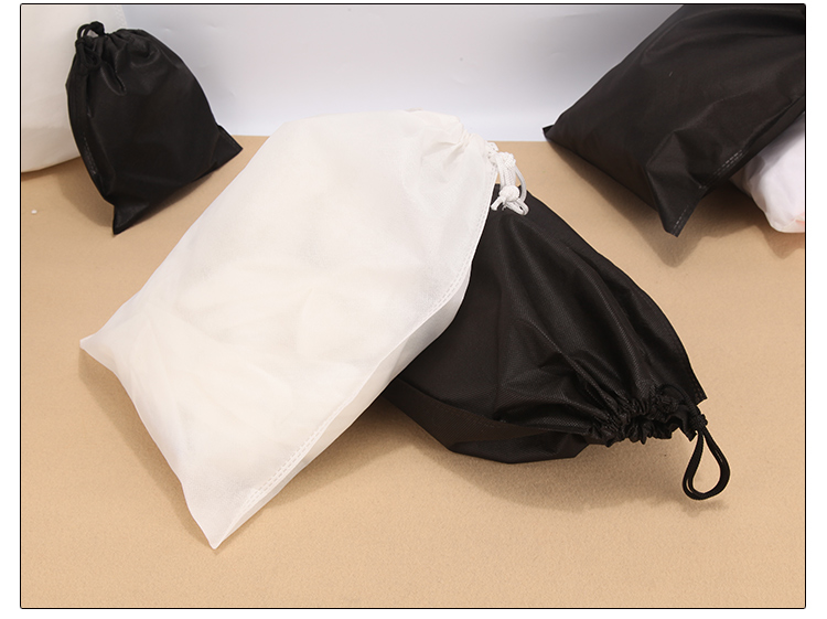 White High Quality Travel Drawstring Bag House Bag Tools Non-woven Shoes Cloth Bag