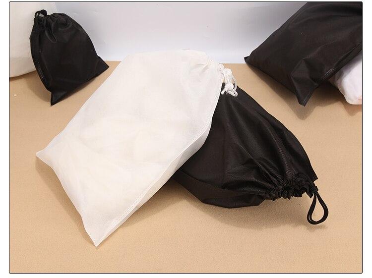 White High Quality Travel Drawstring Bag House Bag Tools Non-woven Shoes Cloth Bag