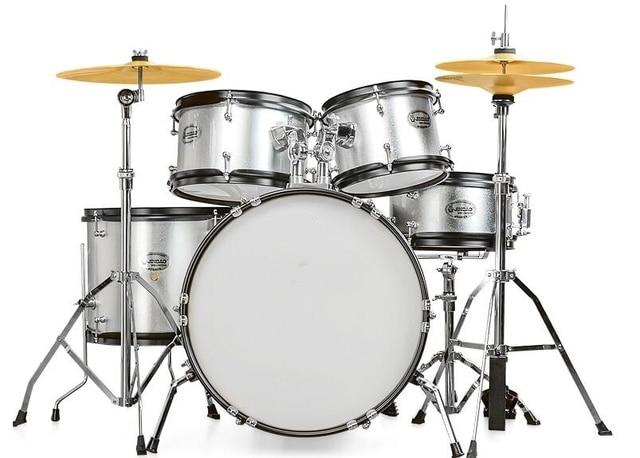 5 Pc Junior Drum Set Colorful Percussion Musical Instrument Drums