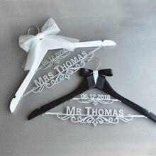Персональная Свадебная вешалка, вешалка для свадебного платья, на заказ вешалка для невесты, пара Свадебная Вешалка, деревенская деревянная вешалка
