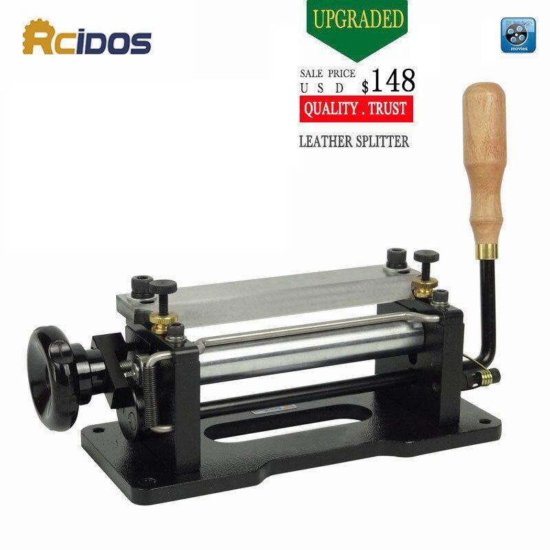 ER806 6 polegada Manual skiver couro, couro RCIDOS peel ferramentas, DIY Máquina pá pele, couro divisor de plástico, uma faca, cortador