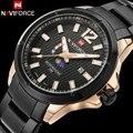 Homens esporte relógios men quartz watch steel band hot marca naviforce calendário relógios de pulso para homens 30 m à prova d' água relogio masculino