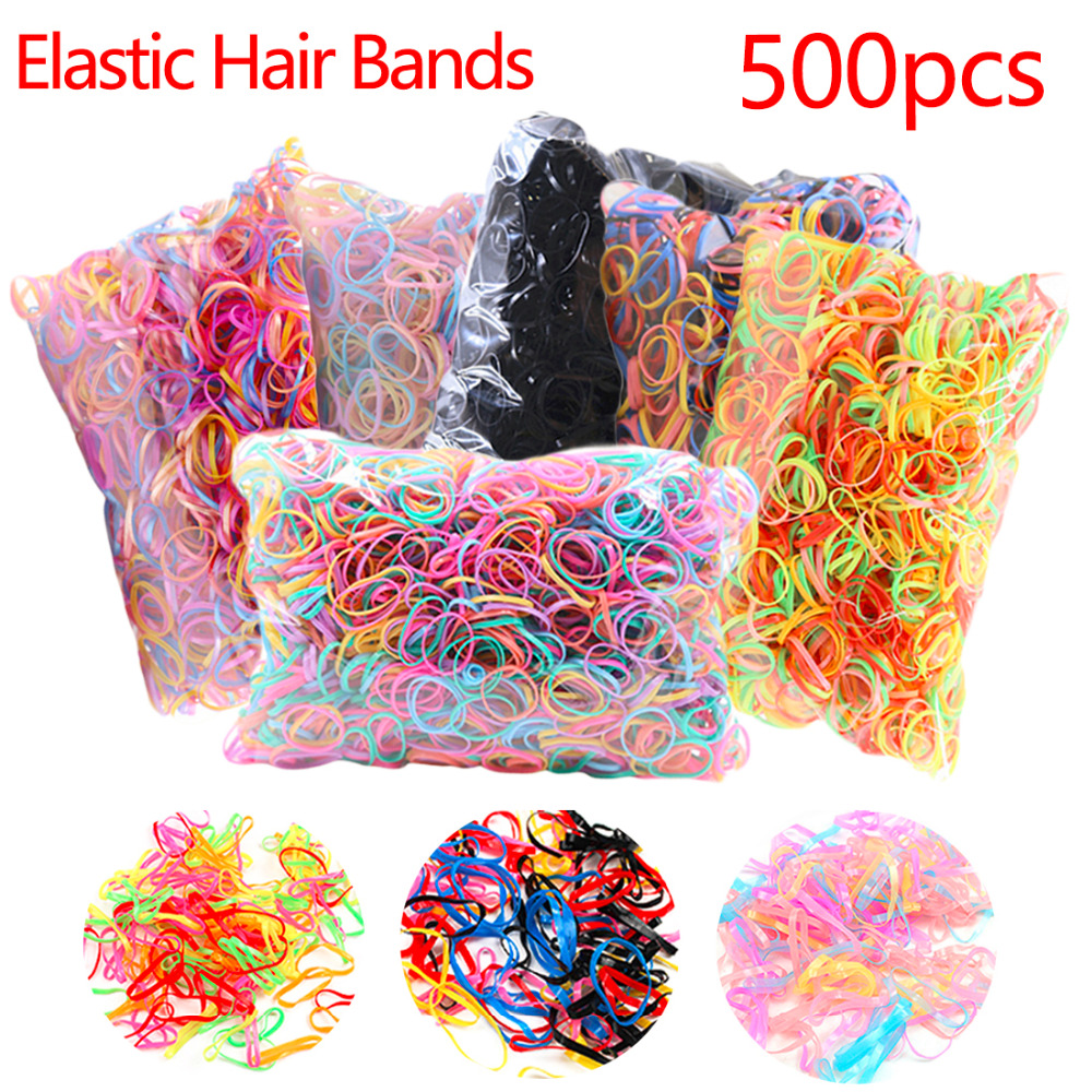 About 500pcs/pack Rope Tie Gum Ponytail Holder Elastic Hair Band Tpu Hair Holder Rubber Hairband Hair Accessories For Girls metting joura vintage bohemian ethnic tribal flower print stone handmade elastic headband hair band design hair accessories
