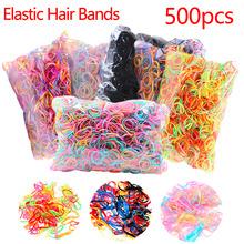 Około 500pcs paczka ponytail Holder elastyczna opaska do włosów TPU uchwyt do włosów guma hairband Akcesoria do włosów dla dziewczyn liny tie gum tanie tanio Moda Stałe Dzieci Rubber Polyester Dziewczyny Elastic Hair Bands Headwear PS3450-01