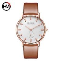 New women Luxury Brand quartz xfcs dw clock Ladies rose gold brown watches with Small second dial wrok horloges vrouwen uhren