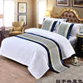 Palíndroma azul corredor de mesa de enrejado nuevo estilo chino cama bandera Hotel armario ropa de cama decoración para el hogar sala de bodas