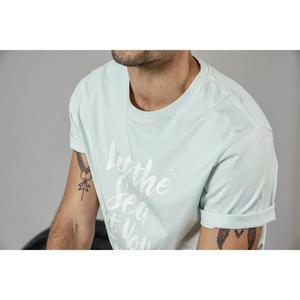 Image 3 - SIMWOOD 2020 summer new fashion letter print t shirt men vintgae 100% cotton tshirt Breathable top high quality t shirt 190223